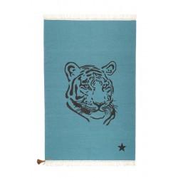 Tapis Tigre bleu Gipsy coton 100x150cm Varanassi
