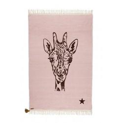 Tapis Girafe Rose Gipsy coton 100x150cm Varanassi