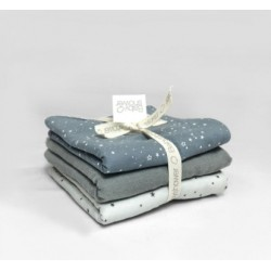 SET MINI-SERVIETTES BLUE STAR