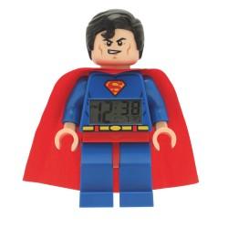 """Réveil / Horloge """"Superman"""" Super Héros Lego"""