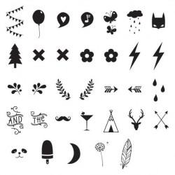 Kit chiffres et symboles pour lightbox - A little Lovely Company