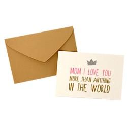 "Carte ""Mom I love you"" - The Cool Company"