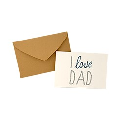 "Carte ""I love Dad"" - The Cool Company"