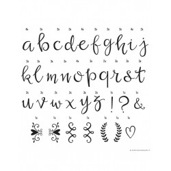 Kit lettres scripte pour lightbox - A little Lovely Company
