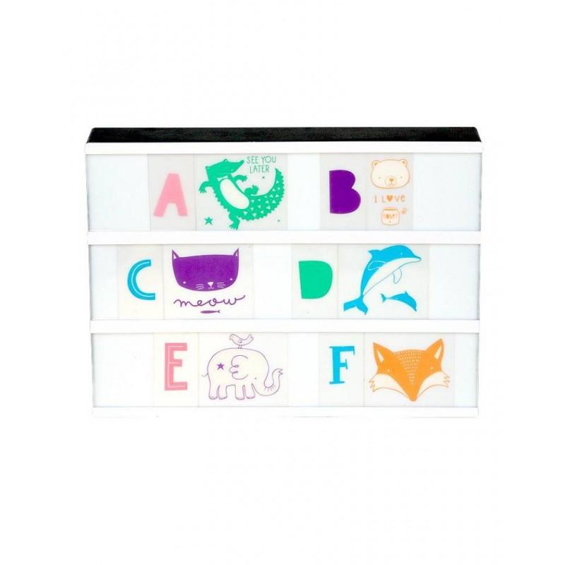 kit lettres alphabet illustr pastel pour lightbox a. Black Bedroom Furniture Sets. Home Design Ideas