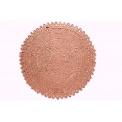 Tapis coton Rose Broderie Gypsy - Varanassi