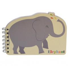 Carnet à spirales Eléphant- Rex