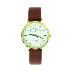 Montre PS I Love You - Brown - Very Mojo
