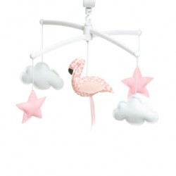 Mobile Flamand Rose Corail - Pouce et Lina