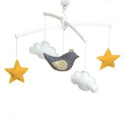 Mobile Oiseau encre doré - Pouce et Lina