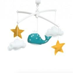 Mobile Baleine Bleu Canard - Pouce et Lina
