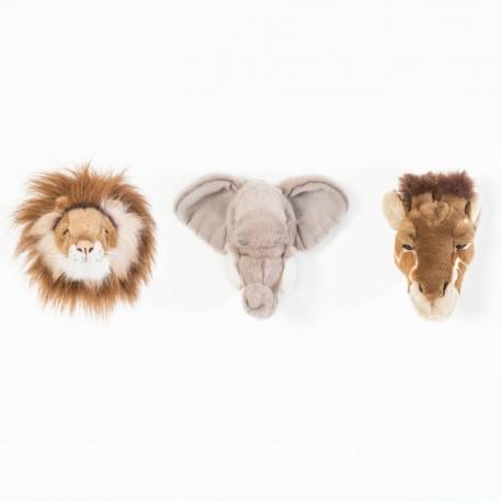 3 Mini Trophées Peluche Safari - Bibib