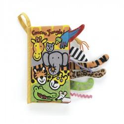 "Livre en tissu ""Coucou la Jungle"" Jellycat"