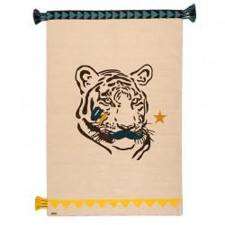 Tapis Tigre Mustache Circus laine 100x150cm Varanassi