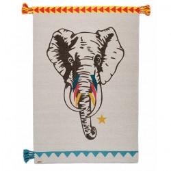 Tapis Elephant Horns circus laine 100x150cm Varanassi