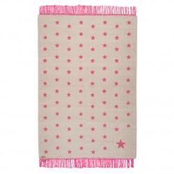 Tapis étoiles rose laine 100x150cm Varanassi