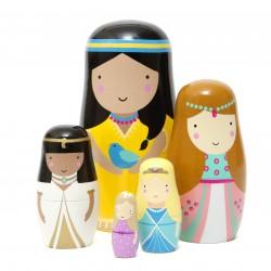 5 Poupées Gigognes Princesses - Petit Monkey
