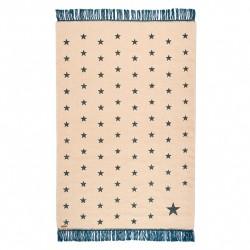 Tapis étoiles bleu laine 100x150cm Varanassi