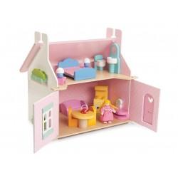 Maison de poupée meublée Le Cottage de Lily en bois - LE TOY VAN