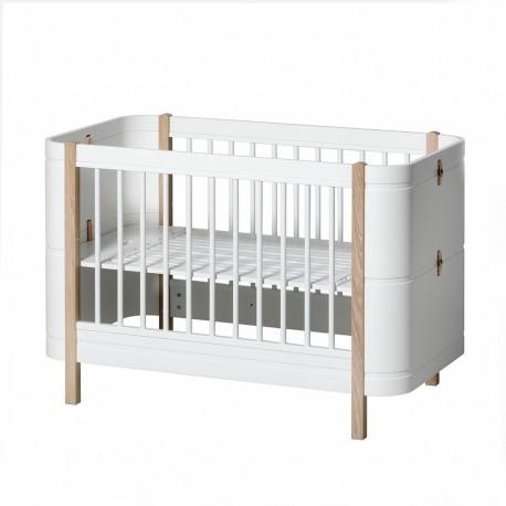 Oliver Furniture - Lit Wood Mini+ Evolutif 0-9 Ans