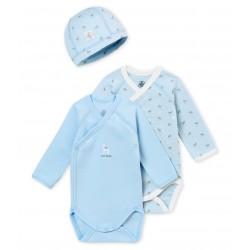 Petit Bateau - Lot 2 Bodies + un bonnet