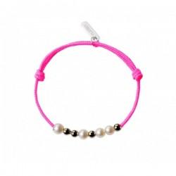 Bracelet Little Treasures 8 Perles blanches - Claverin