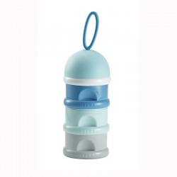 Boite doseuse de lait empilable Bleu - Beaba
